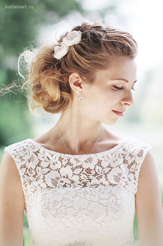 воздушные модные свадебные прически